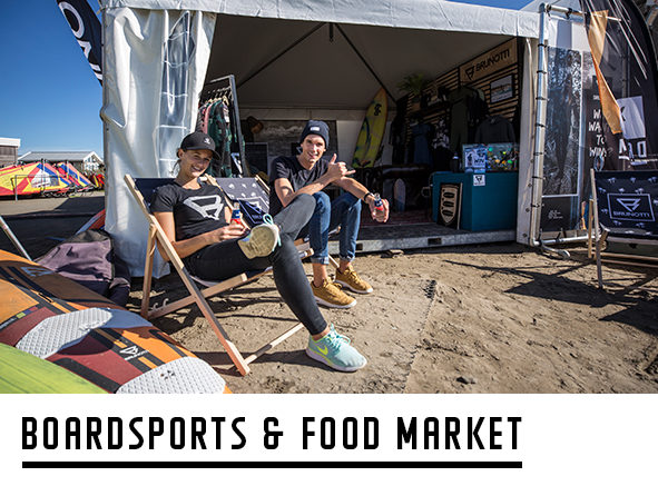 Boardsport and food market